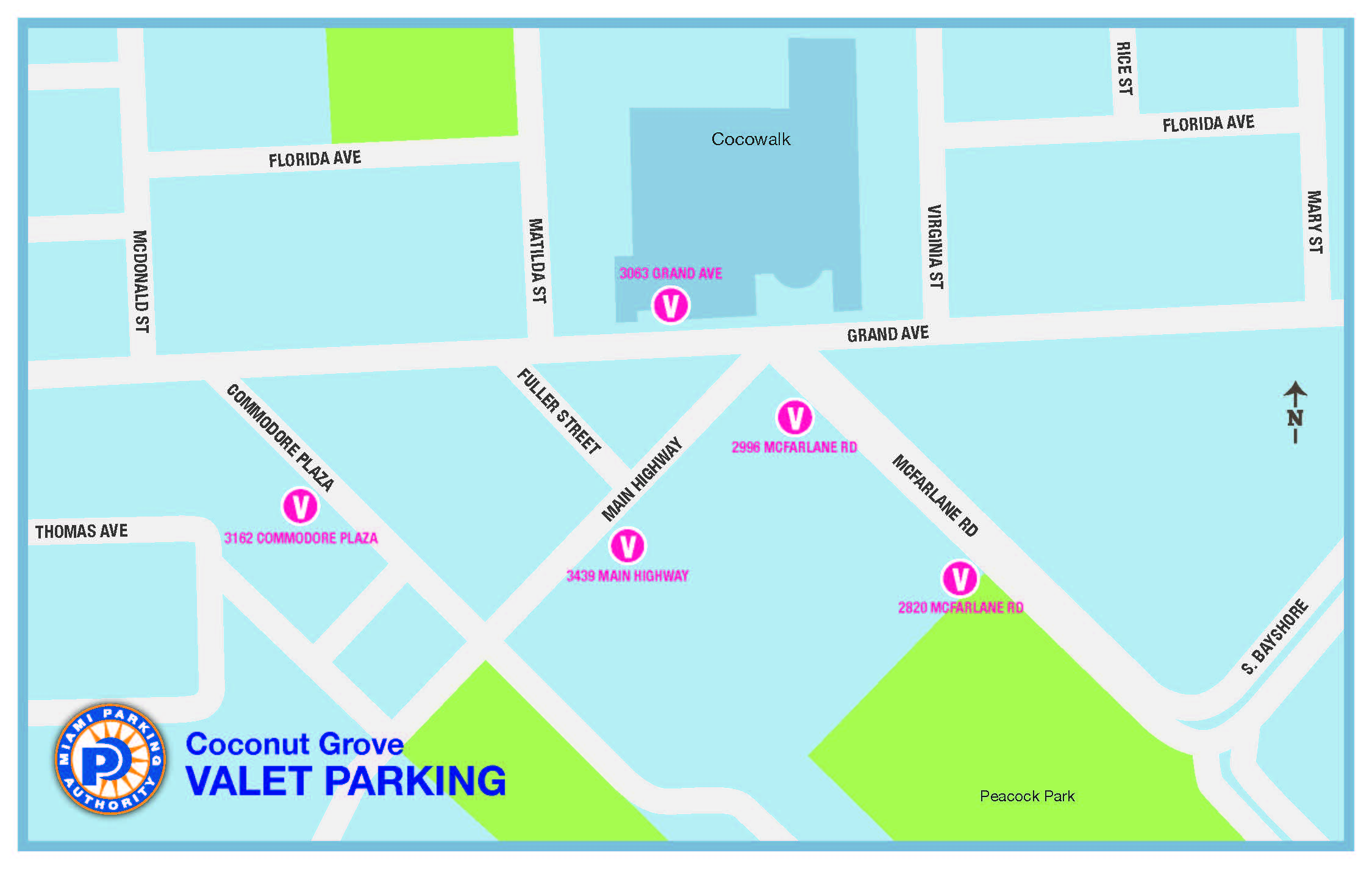 Coconut Grove Florida Map.Miami Parking Authority Find Parking In Miami Pay For Parking By