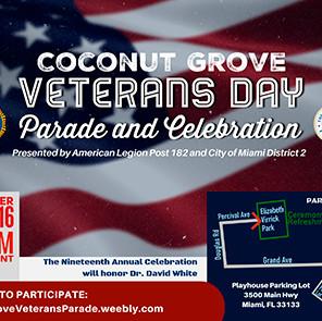 Coconut Grove Veterans Day Parade